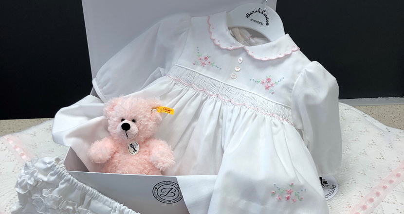 Baby clothing available at Betty McKenzie