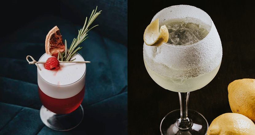 Two cocktails available at The Curious Cat