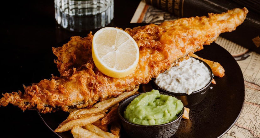 Fish and chips available at The Curious Cat