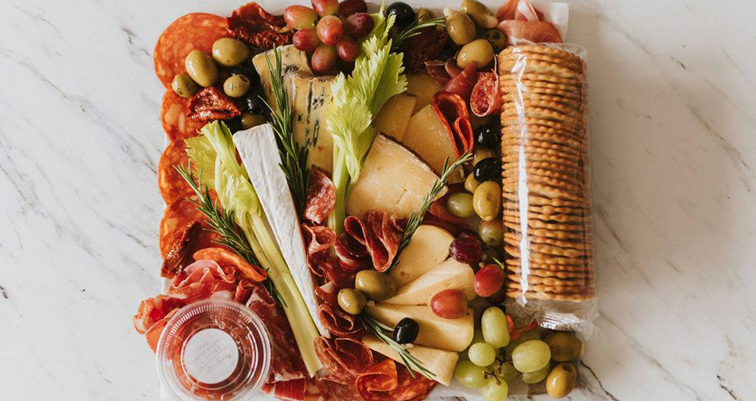charcuterie board available at Healing Manor