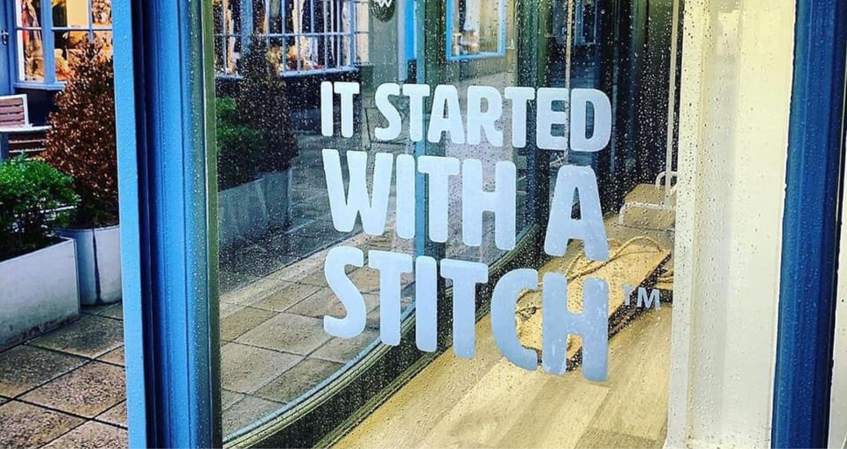 It started with a stitch vinyl graphic on a window