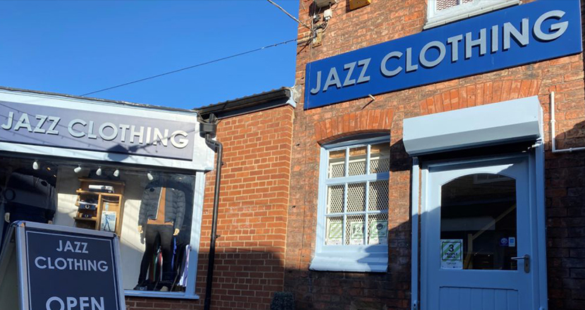 Jazz Clothing shop front
