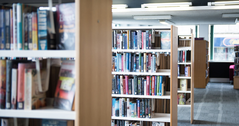 Picture of a library at the Lincs Inspire building
