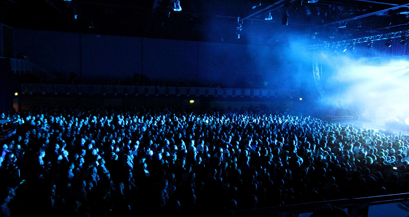 A large crowd at a gig