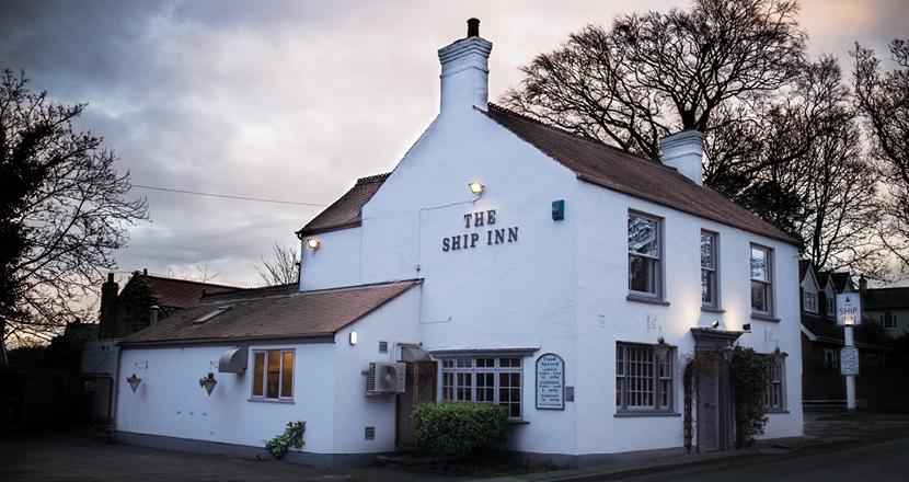 A shot of The Ship Inn pub