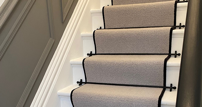 Photography of a beautiful stair runner