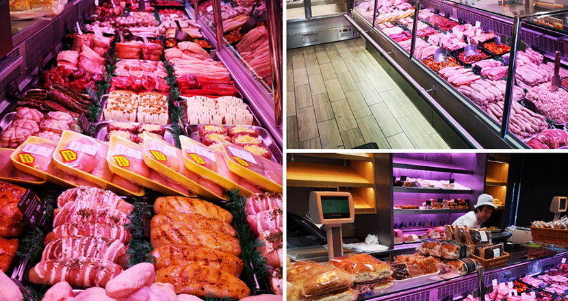 A photograph of the Birketts meat counter