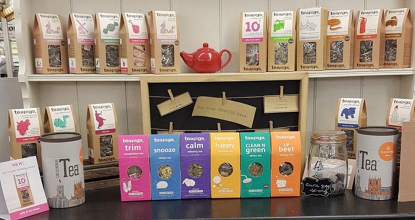 Photograph of a range of tea pigs teas