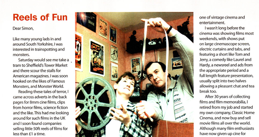 News article about Classic Home Cinema