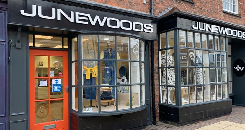 June Woods shop front