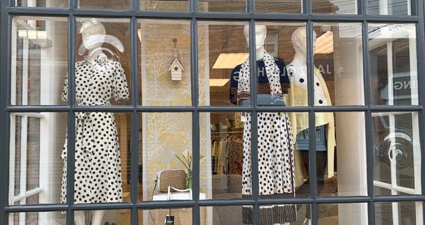 June Woods window display