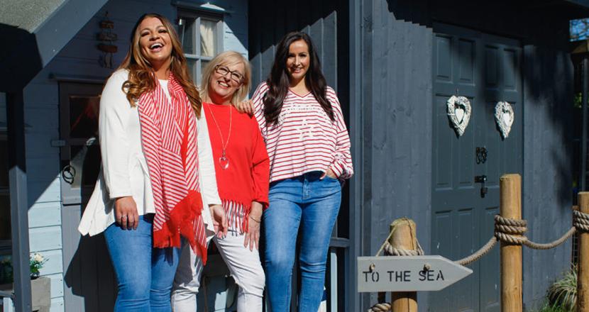 3 women wearing Tilletts clothing