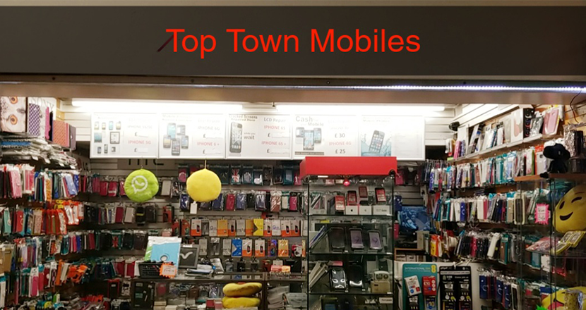 Top Town Mobiles Shop Front