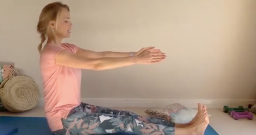 lady doing pilates