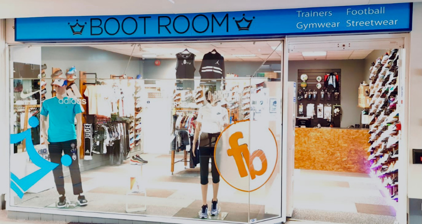 boot room shop front