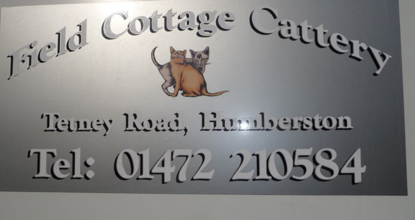 Field Cottage Cattery sign