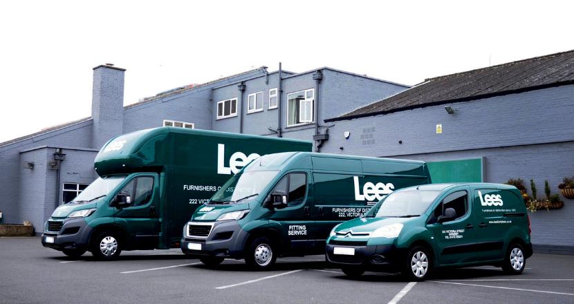 Lees Furnishers delivery vans