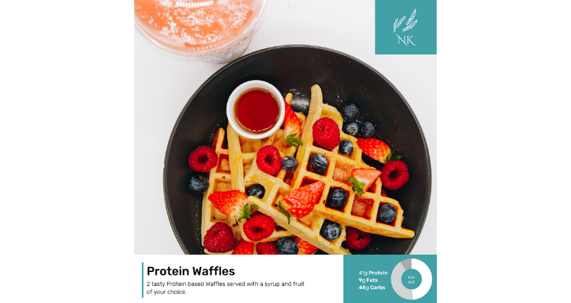 Protein Waffles dish