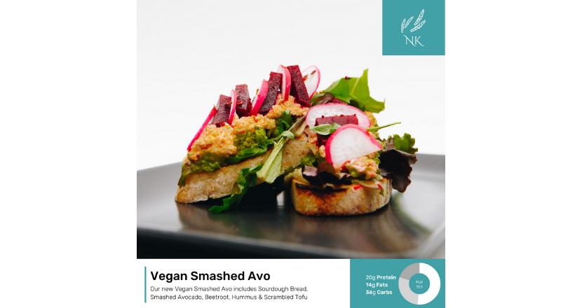 Vegan Smashed Avo dish