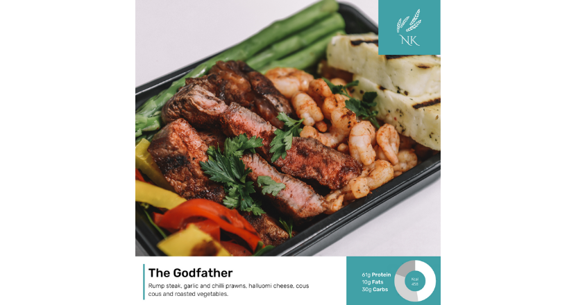The godfather steak meal dish